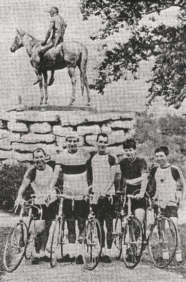 1968 Tour of Kansas City riders in Penn Valley Park