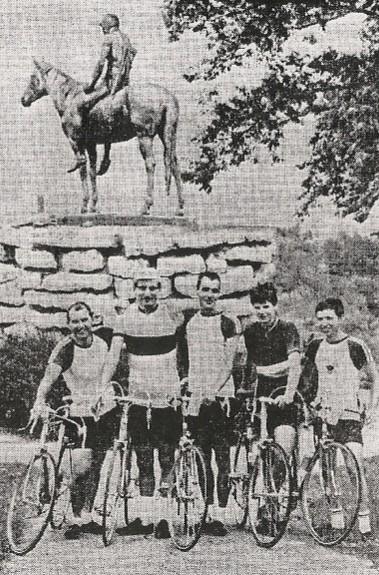 1968 Tour of Kansas City riders in Penn Valley Park