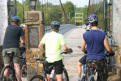 Warsaw's historic Swinging Bridge is now a bike/ped connection