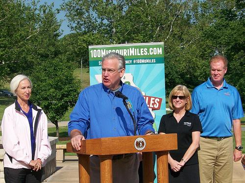 Governor Nixon launches the 100 Missouri Miles Challenge