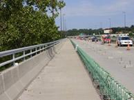 Chouteau Bridge path under construction