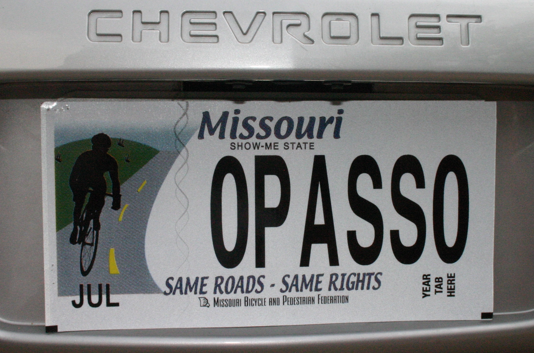 Bicycle Missouri license plates--what they will look like | Missouri ...