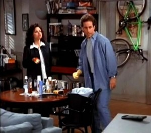 In the sitcom, Seinfeld's apartment prominently featured a bicycle