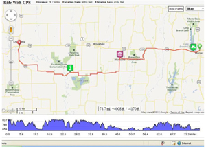Highway 36 Bicycle Route, St. Joseph to Hannibal
