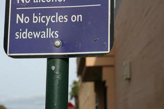 No Bicycles On Sidewalks