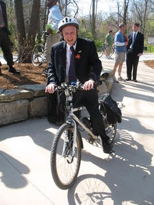 Mayor Hindman was an avid cyclist--and bicycle and trails supporter