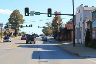 Main Street in O'Fallon. Would you want to visit or walk here?