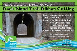 Rock the Trail ribbon-cutting 10am on Saturday, June 1st, 2019