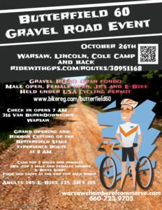Butterfield 60 Gravel Road Gran Fondo - Sat Oct 26, 2019