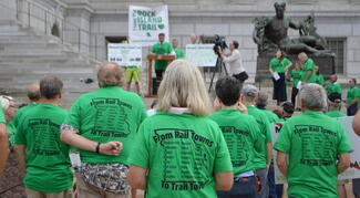 Rally for the Rock Island Trail at the Capitol in Jefferson City