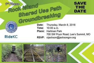 Groundbreaking for Rock Island Trail in Jackson County March 8th, 2018