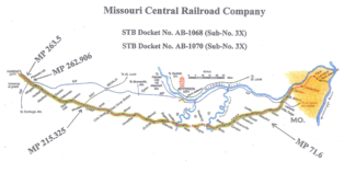 The 144-mile section of the Rock Island under discussion