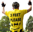 Three feet please (photo courtesy League of American Bicyclists)