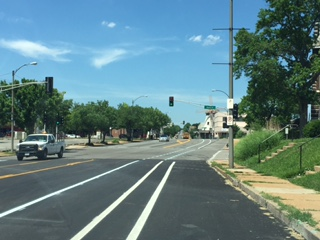 The Road Diet on Morganford takes a four-lane road into a bike-friendly road