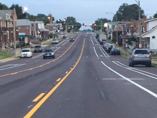 Morgan Ford road diet south of Holly Hills