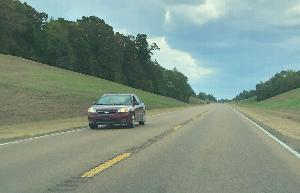 Proposed rumble strips for the Natchez Trace will be deep grooves under lines
