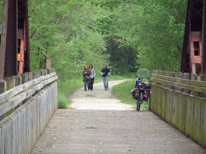 Hikers on the Katy Trail by Ranj Niere