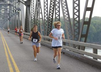 The Mississippi River 5K crosses the bridge--how about opening the bridge to peo