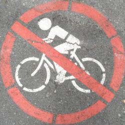 Bicycles Banned symbol