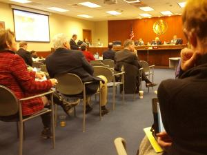 MoDOT Director Dave Nichols addresses Commission Members on the Long Range Plan