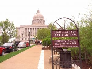 Lewis & Clark Trailhed near the Missouri Capitol