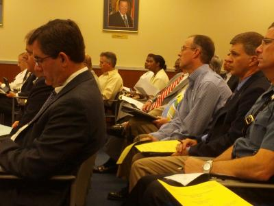 Members of the public and MoDOT staff attended the Commission meeting