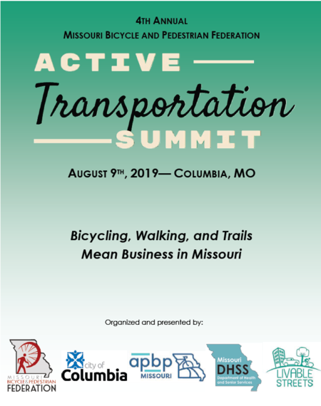 Thanks to all 2019 Missouri Active Transportation Summit presenters and attendee