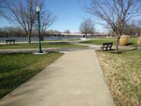 Warsaw's riverfront park and harbor is immediately adjacent to downtown