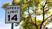 Speed Limit 14 mph, photo by Bredgur on FlickR, http://www.flickr.com/photos/bredgur/2402977168/sizes/o/in/photolist-4EkToQ-4HSS8t-4L1vyV-4PSaem-4QwUFq-4XaUbP-4ZDRou-557CRe-5aDi7J-5bA3yp-5cYagV-5jNDbR-5t5KxY-5DnnB7-5DnnZu-5Nd9PH-5NHo3q-5Wqprf-5Zko3N-66uTYn-6abkhY-6amB11-6ceFec-6cRtVM-6dKmkW-6h3qSu-6qCSBJ-6wu1un-6AKxo8-6BSpXA-6BSH8m-6XVnFi-7gQU5F-7tjsaS-7wrTDf-9y31bz-bdwgzt-aoqjFq-7MB6AP-aZ4Z54-e8DTxG-9jE24f-aBgJEz-aBjpQy-aBjpLf-egjhk3-bjfbpc-9PkavU-bmpoit-akqgei-7QNmPQ/