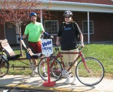 I bicycle and I vote . . .
