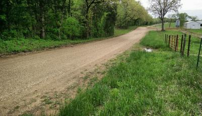 Farms and homes dot the route - and road conditions vary