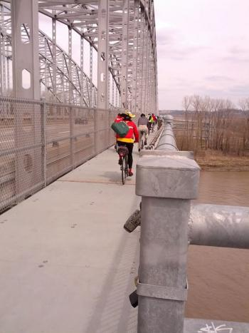 Jefferson City Missouri River Bridge - Bike/Ped Crossing today