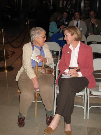 Pat Jones with First Lady Georganne Nixon in 2009