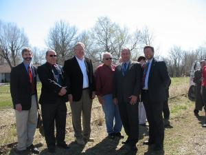 In 2009, Governor Nixon broke ground on the Katy-Windsor trail connection in Ple