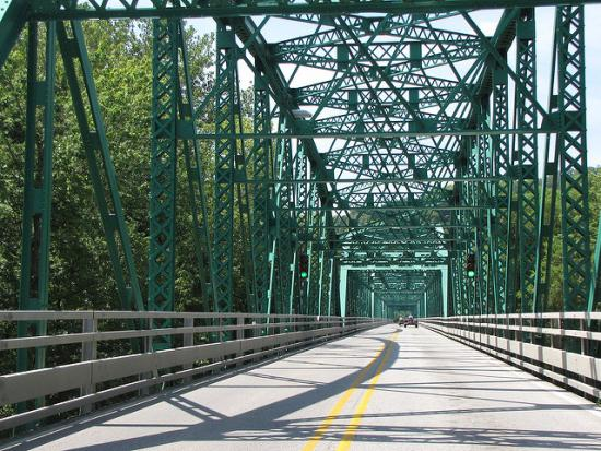 Current Champ Clark Bridge at Louisiana, MO - just 22 feet wide