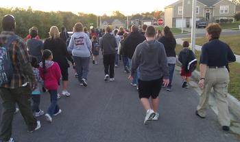 Fun group walks like this are, unfortunately, just what we need to avoid to slow