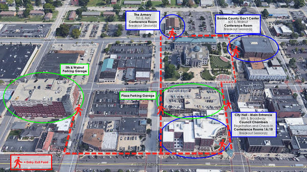 Summit location and parking Columbia (click to view full sized version)