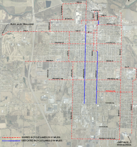 The Carthage Missouri On-Road Bicycle Route Plan will be in place by November 2016