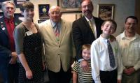 Capitol Day 2012 - meeting with Transportation Committee Chair Charlie Denison