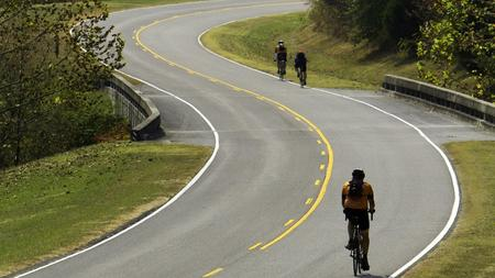 Bicycling is a popular activity on the Natchez Trace Parkway