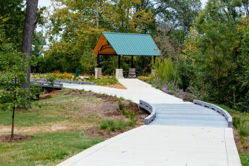 Newest segment of the Deer Creek Greenway in Webster Groves