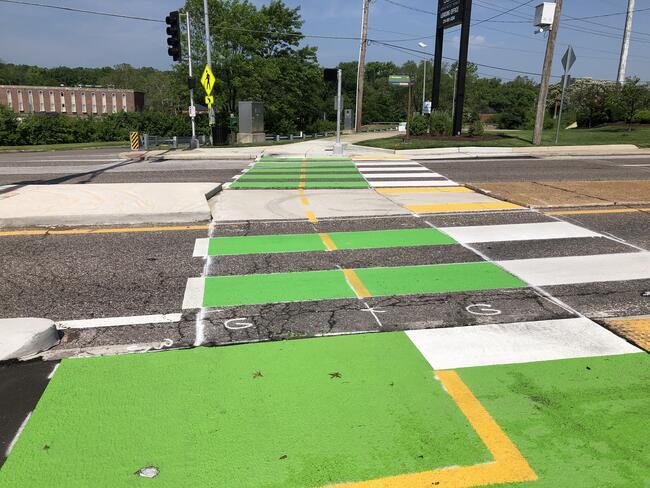Centennial Greenway crossing McKnight - after