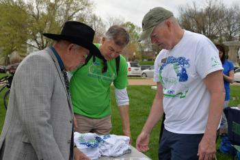 Capitol Day visitors talk about Missouri's Rock Island Trail State Park