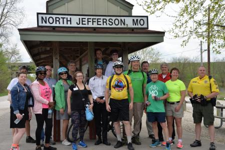 Annual Legislators Ride - from the Capitol to the Katy Trail and back. The Legislators Ride is a partnership of MoBikeFed, MoDOT, and Missouri State Parks.