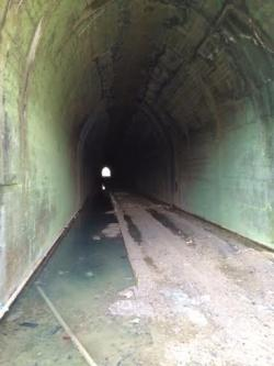 Freeburg Tunnel - This will become part of the Rock Island Trail when it is comp