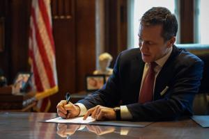 Governor Eric Greitens signed 77 bills today.