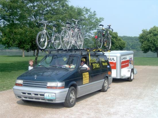 Coy drove the MoBikeFed SAG wagon for the 2005 Speaker Jetton Katy Trail Ride