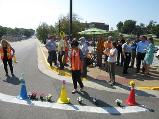 Building communities that are better, safer places to walk and bicycle is a majo