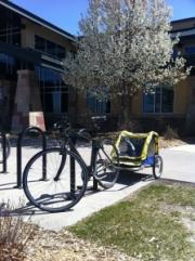 Mr. Money Mustache's bike and trailer