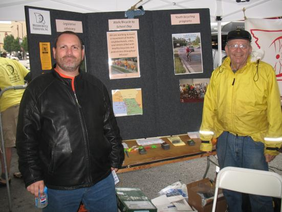 Coy staffed the display table for MoBikeFed at many events across the state
